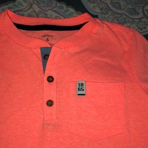 Carter's Shirts & Tops - Bright orange button t-shirt